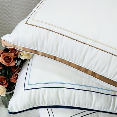 2019新款蓬松安睡枕枕芯 金48X74CM