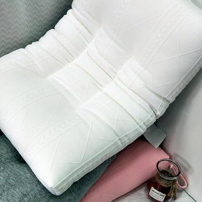 2019新款色彩针织水洗枕枕芯 白 48*74