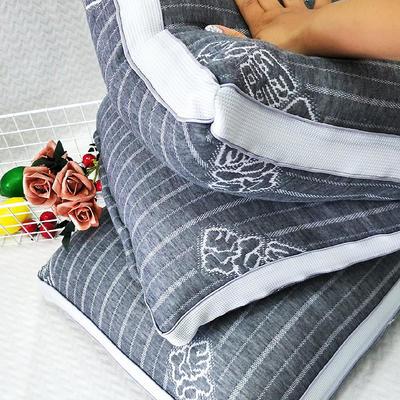 2019新款石墨烯热熔枕全棉亲肤羽丝绒枕成人发热助眠护颈柔软枕芯 石墨烯热熔枕48*74