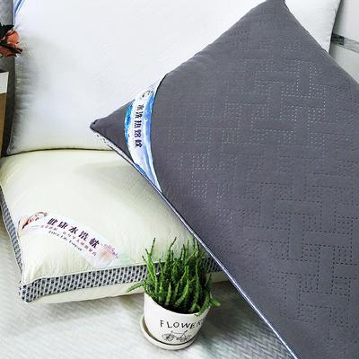 2019新款可水洗熱熔枕護頸柔軟枕芯 灰 48*74