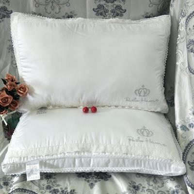 2019新款-貢緞蕾絲立體枕48*74 貢緞蕾絲立體枕