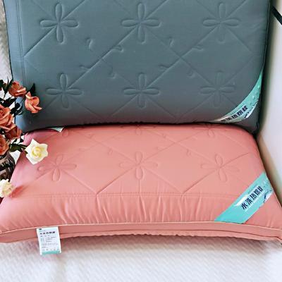 2019新款-貢緞立體熱熔枕48*74 玉色