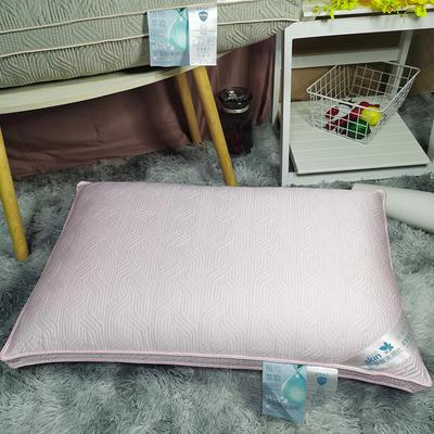 2020新款玻尿酸熱熔枕成人護膚助眠護頸柔軟枕芯-48*74 粉