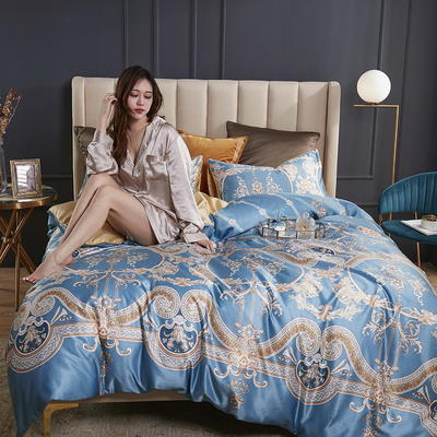 2020新款-水洗真丝四件套 床单款四件套1.5m(5英尺)床 安科纳