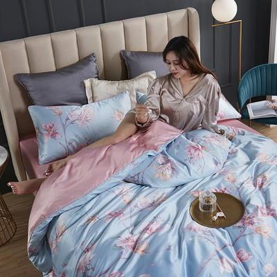 2020新款-水洗真丝四件套 床单款四件套1.5m(5英尺)床 奥兰多