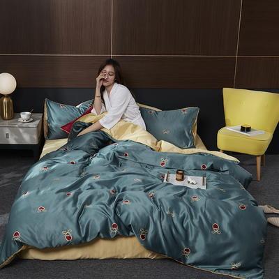 2020新款-水洗真丝四件套 床单款四件套1.5m(5英尺)床 比萨