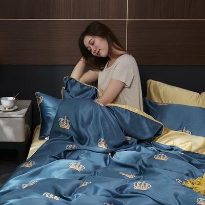 2020新款-水洗真丝四件套 床单款四件套1.5m(5英尺)床 莱可