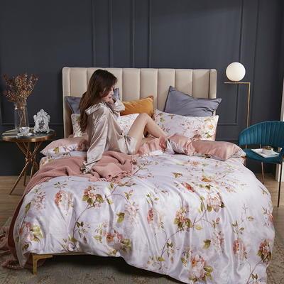 2020新款-水洗真丝四件套 床单款四件套1.5m(5英尺)床 洛雷托