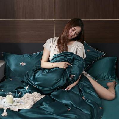 2020新款-水洗真丝四件套 床单款三件套1.2m(4英尺)床 戴维德
