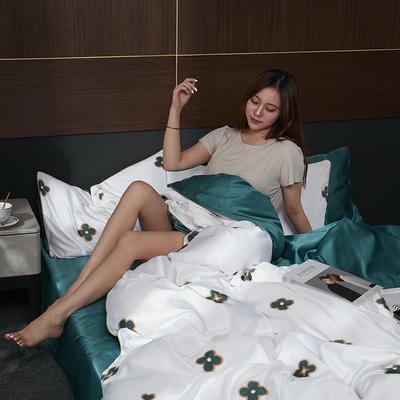 2020新款-水洗真丝四件套 床单款四件套1.5m(5英尺)床 菲拉拉