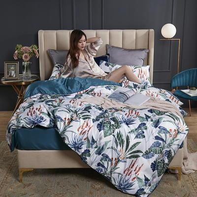 2020新款-水洗真丝四件套 床单款三件套1.2m(4英尺)床 卡梅罗