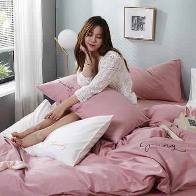 2020新款-全棉四件套 床单款三件套1.2m(4英尺)床 公主粉