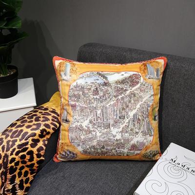 2019新款荷兰绒数码印花抱枕20 45x45cm(套子不含芯) BZ0162