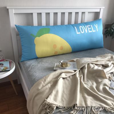 2020新款网红夏季冰丝大靠枕长枕床头靠垫大靠背可拆洗床上靠枕双人单人床头大靠垫 150cm*60cm 柠檬