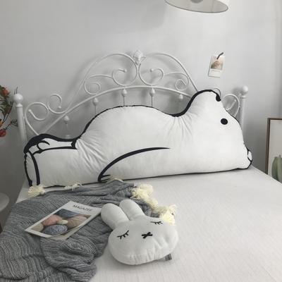2020新款宝宝绒双面数码印花卡通床靠背 120x50cm 大白熊
