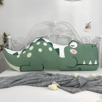 2020新款宝宝绒双面数码印花卡通床靠背 120x50cm 鳄鱼绿