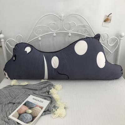2020新款宝宝绒双面数码印花卡通床靠背 120x50cm 灰熊