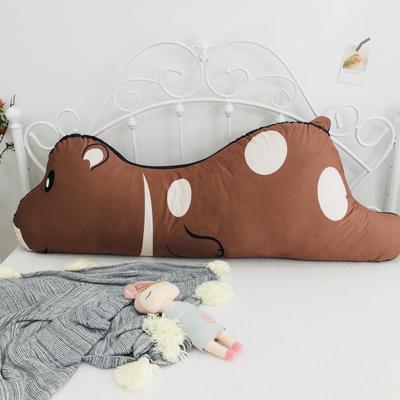 2020新款宝宝绒双面数码印花卡通床靠背 120x50cm 棕熊
