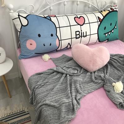 2020新款宝宝绒码印花卡通床靠背 150x60cm 爱心恐龙