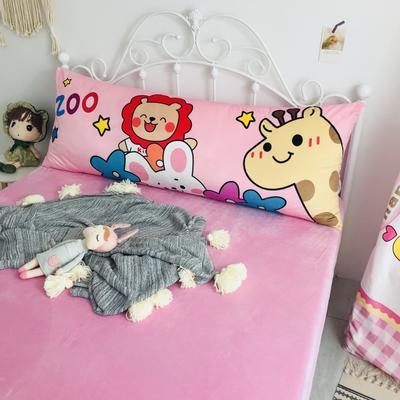 2020新款宝宝绒码印花卡通床靠背 150x60cm 动物园