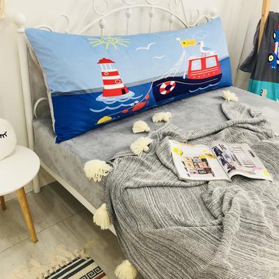 2020新款宝宝绒码印花卡通床靠背 150x60cm 海鸥轮船