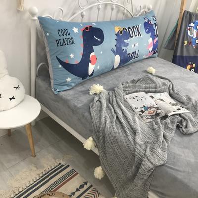 2020新款宝宝绒码印花卡通床靠背 150x60cm 欢乐恐龙