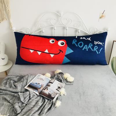 2020新款宝宝绒码印花卡通床靠背 150x60cm 恐龙先生