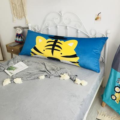 2020新款宝宝绒码印花卡通床靠背 150x60cm 老虎