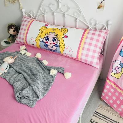 2020新款宝宝绒码印花卡通床靠背 150x60cm 美少女