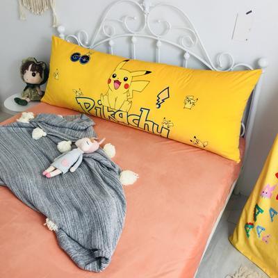 2020新款宝宝绒码印花卡通床靠背 150x60cm 皮卡丘