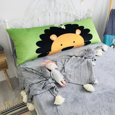 2020新款宝宝绒码印花卡通床靠背 150x60cm 狮子