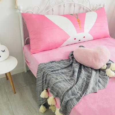 2020新款宝宝绒码印花卡通床靠背 150x60cm 兔子