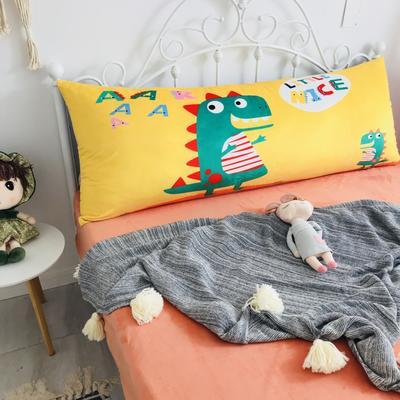 2020新款宝宝绒码印花卡通床靠背 150x60cm 小恐龙