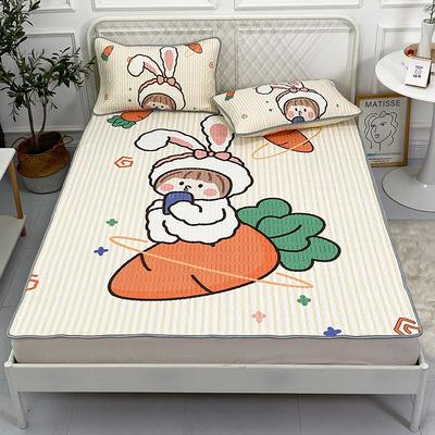 2021新款凉感丝卡通风乳胶凉席床垫款 1.8*2.0m 兔兔女孩