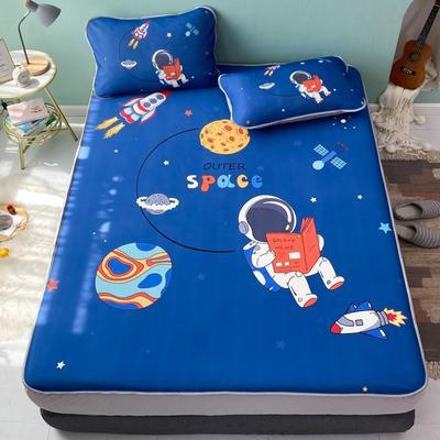 2021新款透感冰丝床笠三件套 120cmx200cm两件套 太空人