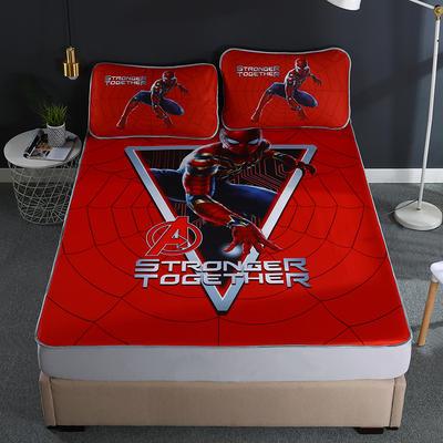 2021新款透感冰丝床笠三件套 120cmx200cm两件套 蜘蛛侠