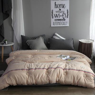 水洗棉工艺冬被被芯--TB 150*200cm(2.3斤夏被) 驼