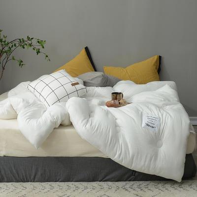 时光水洗棉冬被被芯--时间 150*200cm(3.5斤春秋被) 时间-纯白