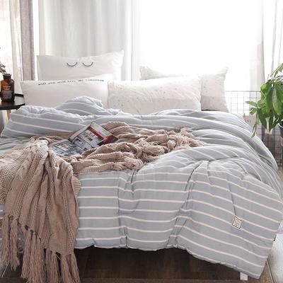 全棉色织水洗冬被被芯 150*200cm(2.3斤夏被) 蓝白条纹