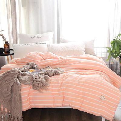 全棉色织水洗冬被被芯 150*200cm(2.3斤夏被) 玉白条纹