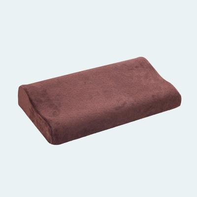波浪款仿天鹅绒记忆枕 棕色50x30cm