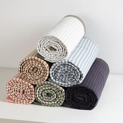 日式水洗棉四季被 1.5*2.0米2.2斤 白小格