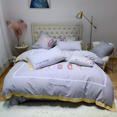2019新款磨毛系列四件套—提花磨毛 1.5m床单款 独特紫(提花磨毛)