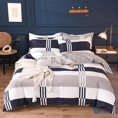 2021新款128x68-40s精梳棉系列四件套 被套1.6+床单2.3+枕套2只(四件套) 比萨之约