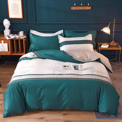 2021新款128x68-40s精梳棉系列四件套 被套1.6+床单2.3+枕套2只(四件套) 东方雅韵