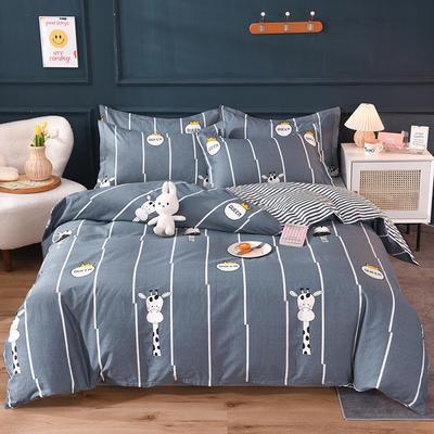 2021新款128x68-40s精梳棉系列四件套 被套1.6+床单2.3+枕套2只(四件套) 萌小鹿