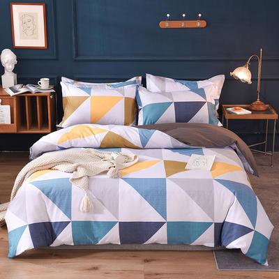 2021新款128x68-40s精梳棉系列四件套 被套1.6+床单2.3+枕套2只(四件套) 梦在卢浮