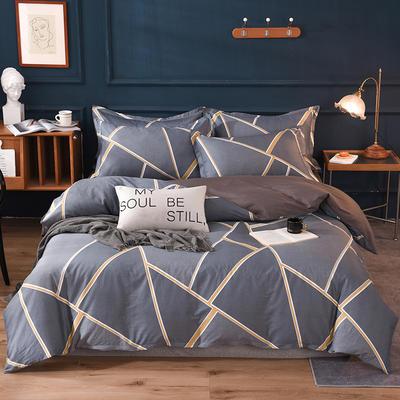 2021新款128x68-40s精梳棉系列四件套 被套1.6+床单2.3+枕套2只(四件套) 时尚拼图