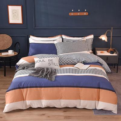 2021新款128x68-40s精梳棉系列四件套 被套1.6+床单2.3+枕套2只(四件套) 维顿
