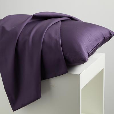 2020新款60纯色长绒棉枕套 单品 48cmX74cm 玛莎紫